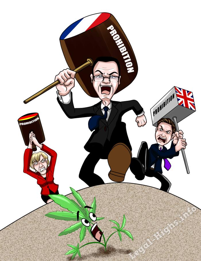 Cannabis Hanf cartoon