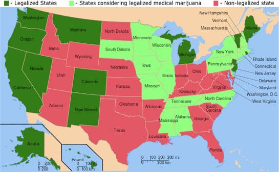 Legalisierungskarte usa