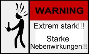 warnung stark