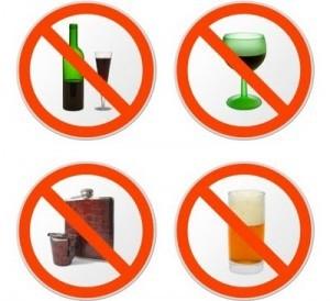 Verbotsschild Alkohol
